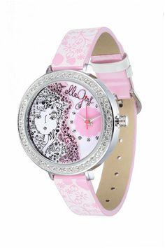 """Reloj analógico para chicas de diseño exclusivo """"Elle Girl"""" GW40088S01X. Esfera con elementos decorativos en 3D"""