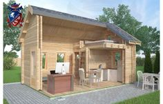 Insulated Micro Log Cabins Banbury x Log Cabins Scotland, Log Cabins Uk, Garden Log Cabins, Tiny Cabins, Log Cabin Homes, Small Log Cabin, Little Cabin, Residential Log Cabins, Timber Buildings