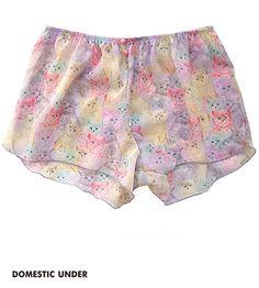 Rainbow kitty pants