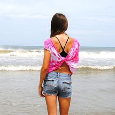 Butterfly Tee | 41 Insanely Easy Ways To Transform Your Shirts For Summer