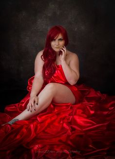 Brittney She're Meyer in red satin sheets, candles and Shibari Red Candles, Red Satin, Lady In Red, Vintage Inspired, Portraits, Wonder Woman, Glamour, Fine Art, Photography