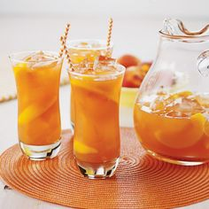 Relax with Peach Tea on a hot Texas summer day. Sweet and refreshing, and made with only 5 ingredients! #HEBRecipe