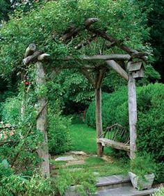 Like the rustic look for the backyard garden