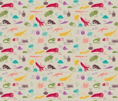 Deep Sea Alphabet fabric by maile on Spoonflower - custom fabric