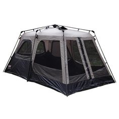 Spend less time setting up camp and more time enjoying the wilderness with this Coleman eight person instant tent that is easy to transport and put up. The design features two rooms with enough space in each to place a queen-sizedd airbed in it.