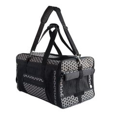 Petote Carle Airline Pet Travel Bag, Reverse Noir Dots -- Click on the image for additional details. (This is an affiliate link and I receive a commission for the sales)