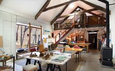 Artists studio, Devon, England