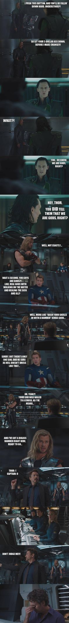 If I had written some of the scenes in The Avengers...