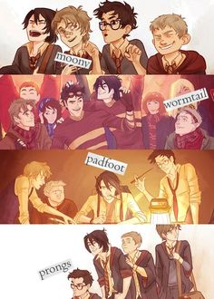 Some FREAKING AWESOME Harry Potter fan art of the marauders creating the map and Fred and George later discovering it. Description from pinterest.com. I searched for this on bing.com/images