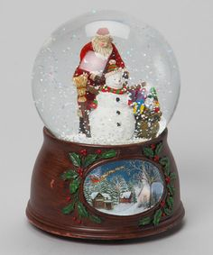 Take a look at this Santa & Snowman Snow Globe by Roman, Inc. on #zulily today!