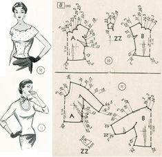 Amazing Sewing Patterns Clone Your Clothes Ideas. Enchanting Sewing Patterns Clone Your Clothes Ideas. Barbie Patterns, Vogue Sewing Patterns, Vintage Sewing Patterns, Clothing Patterns, Sewing Tutorials, Sewing Crafts, Sewing Projects, Barbie Vintage, Patron Vintage