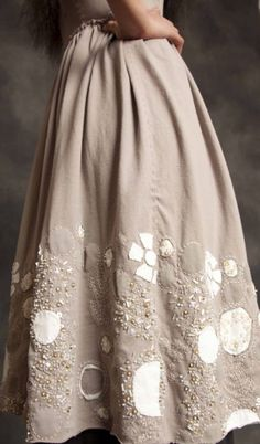 Alabama Chanin is a favorite of mine to look for sewing inspiration. And they have kits!! http://alabamachanin.com/items/junes-dream