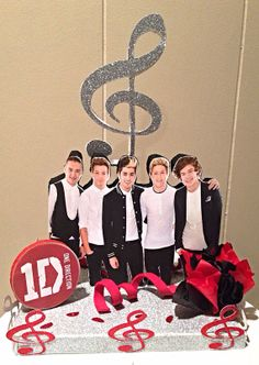 One Direction Cake topper Table centerpiece party by YndiraArtz, $22.00