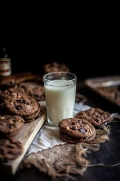 hazelnut and nutella chocolate chip cookies