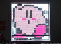Super Mario Bros In Post-It Notes: Paris Office Workers Make War With Art (PHOTOS)