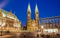Bremen bei Nacht - Fotoabzug von Deutschland abgelichtet auf DaWanda.com