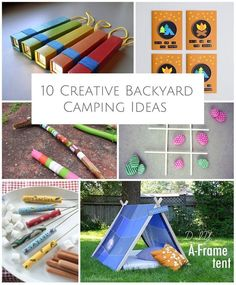 Bring the camping right in your backyard with these creative camping ideas for kids.