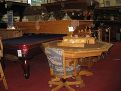 Game Tables of All Sizes! Game Tables, Table Games, Poker Table, Cushion, Home Decor, Board Games, Card Tables, Decoration Home, Room Decor