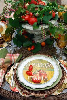 Italian tablescape...