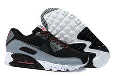 new styles 940e5 d8ce8 NHKD508 Kvinder Nike Air Max 90 Premium EM løbesko Sort Grå Hvid AJME83  1