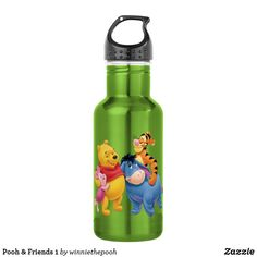Shop Pooh & Friends 1 Stainless Steel Water Bottle created by winniethepooh. Personalize it with photos & text or purchase as is! Create Your Own Poster, Drink More Water, Disney Merchandise, Stainless Steel Water Bottle, Disney Style, Your Skin, Winnie The Pooh, Birthday Cards, Drinks