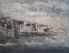 Les falaises grises (Peinture),  130x97 cm par sophie dumont huile sur toile