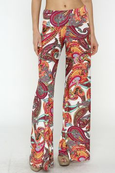 Paisley in Pink Palazzo Pants #love - JC's Boutique - www.SHOPJCB.com
