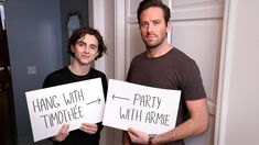 Exclusive: Party With Armie Hammer & Timothée Chalamet For A Good Cause & Champagne #refinery29 https://www.refinery29.com/2018/02/190262/call-me-by-your-name-omaze-contest-meet-timothee-armie#slide-6