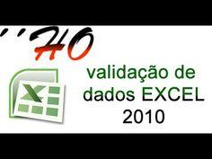 Lista de validação de dados no EXCEL 2010 - YouTube