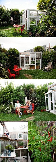 Backyard glasshouse in New Zealand