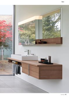 Images Of Duravit Vero Wall mounted Vanity Unit mm with open partment