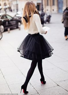 new obsession - tulle skirt