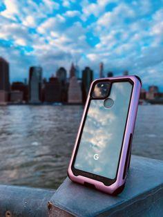 Google Pixel 5 [Sorta Sage] in our Clear Pink Aluminum Metal Bumper Protective Phone Case #Ghostek #Pixel5 #GooglePixel5 #Google #PhoneCase #Android Google Pixel 5, Aluminum Metal, Sage, Android, Phone Cases, Pink, Salvia, Pink Hair, Roses