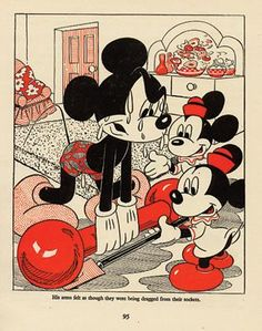Mickey lifting Weights Antique Print (with certificate of authenticity)coll...
