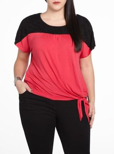 Short sleeve knotted tee - Plus Sizes   Plus Sizes   Shop Online at Reitmans