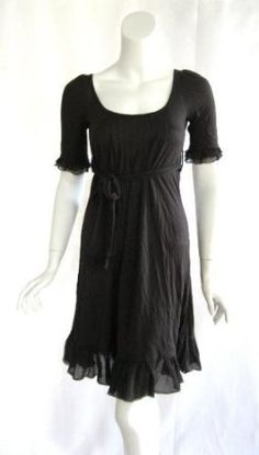 Juicy Couture womens grant ruffle belt dress $109------super cute and I would wear if I was this size! LOL