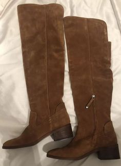 ac16a5261ab NIB Dolce Vita Kitt Womens Over The Knee Suede Boots Chestnut Sz. 8.5   fashion  clothing  shoes  accessories  womensshoes  boots (ebay link)