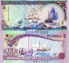 5 Rufiyaa  UNC Banknote
