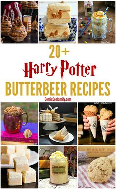 An awesome list of the very best Harry Potter butterbeer recipes! Everything from copycat version of the popular drink at the Wizarding World of Harry Potter at Universal Studios, to butterbeer inspired dessert recipes for cakes, candies, cookies, and more.