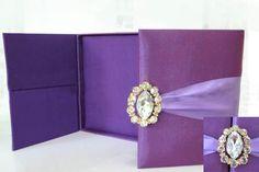 Caja de seda de la boda