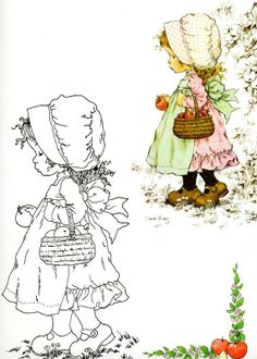 Embroidery Girl Sarah Kay 30 Ideas For 2019 Embroidery Patterns, Hand Embroidery, Sara Kay, Holly Hobbie, Coloring Book Pages, Digi Stamps, Paper Dolls, Needlework, Prints