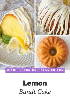 This easy lemon bundt cake is a nearly from scratch dessert drizzled with lemon cream cheese frosting, lemon glaze and white chocolate! Lemon Bundt Cake, Lemon Cake Mixes, Box Cake Recipes, Bakery Recipes, Chewy Sugar Cookies, Cake Mix Cookies, Lemon Desserts, Lemon Recipes, Lemon Cream
