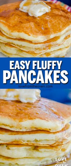 My go to recipes for easy fluffy buttermilk pancakes! Quick to make, great flavor, wonderfully fluffy! Perfect Saturday morning breakfast, I double the batch and freeze for weekday breakfasts. #pancakes #fluffypancakes #buttermilkpancakes #breakfast #lftorecipes