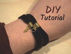 fluwelen armband met bedel - armbandjesmaken.com