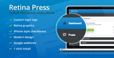 Retina Press WordPress Admin Theme Plugin, it is an advanced and fully customized dashboard especially developed for WordPress admin.