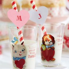 Personalized Heart Straws
