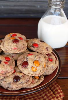 Colorful Chocolate Chip Oatmeal Cookies - Cook AZ I Do
