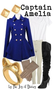 """Captain Amelia (Treasure Planet)"" by thejoyofdisney ❤ liked on Polyvore"