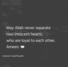 Bodies can b separated.don't separate our hearts and fill them wd more love through this longng dstances Aameen Quran Quotes Love, Ali Quotes, Reminder Quotes, Faith Quotes, True Quotes, Words Quotes, Qoutes, Muslim Couple Quotes, Muslim Quotes