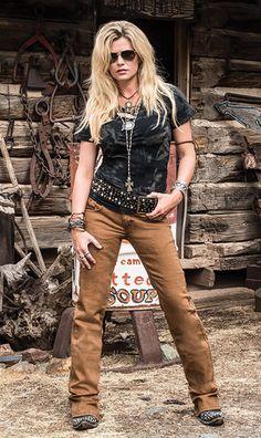 f6c05c8d1e9bb Cowgirl Tuff Women s Bonanza Brown Denim Jeans - Keffeler Kreations